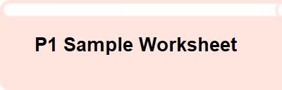 P1 Sample Worksheet